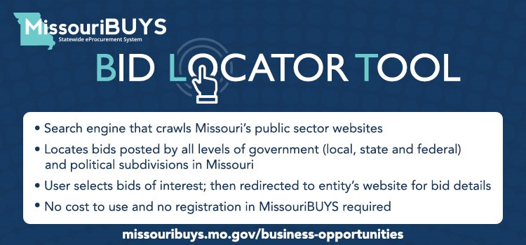 Click here to link to the MissouriBUYS Business Opporturnities Page